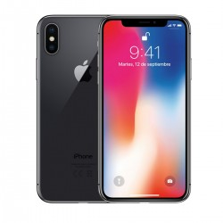 iPhone X 64GB A1901 Space Gray SEMINUEVO GRADO A